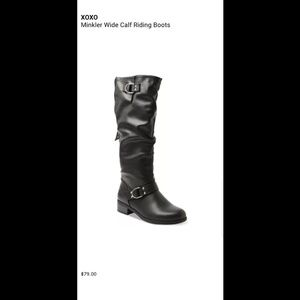 NWT XOXO Minkler Riding Boots Wide Width & Calf
